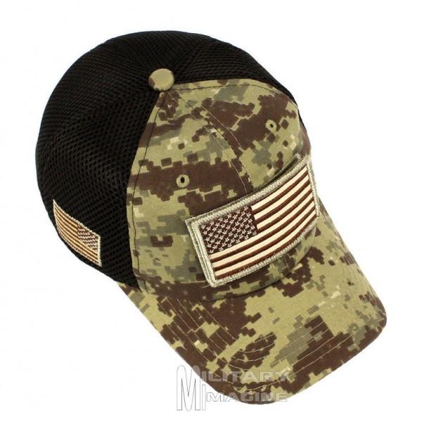 USA American Flag Desert Digital Detachable Patch Micro Mesh Tactical  Operator Military cap f068dec3404b