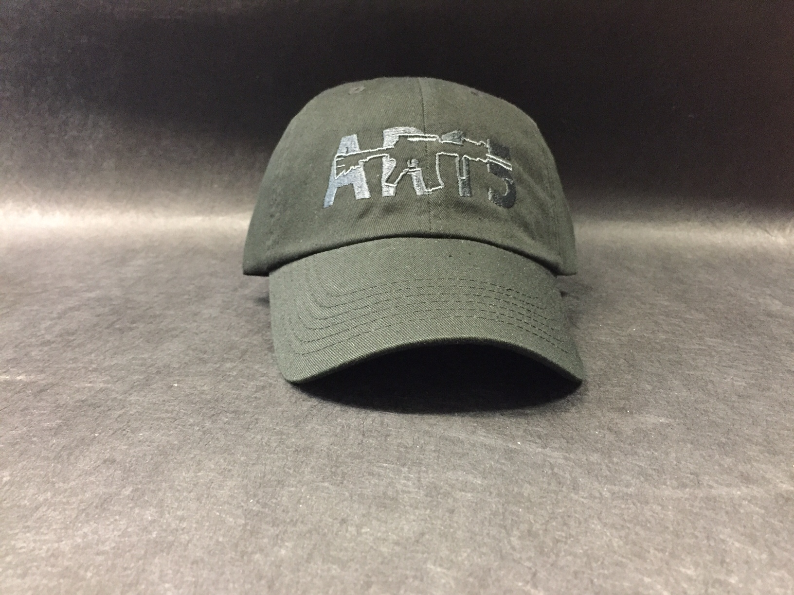 AR-15 Black w//DK Charcoal Hat Cap Pistol FirearmRifle Weapon Embroidery