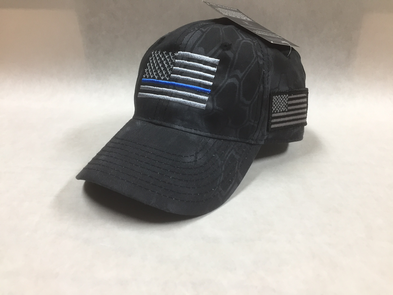 Thin Blue Line Gray Flag KRYPTEK Typhon US Flag Cap – Alys Embroidery f0385df52ea