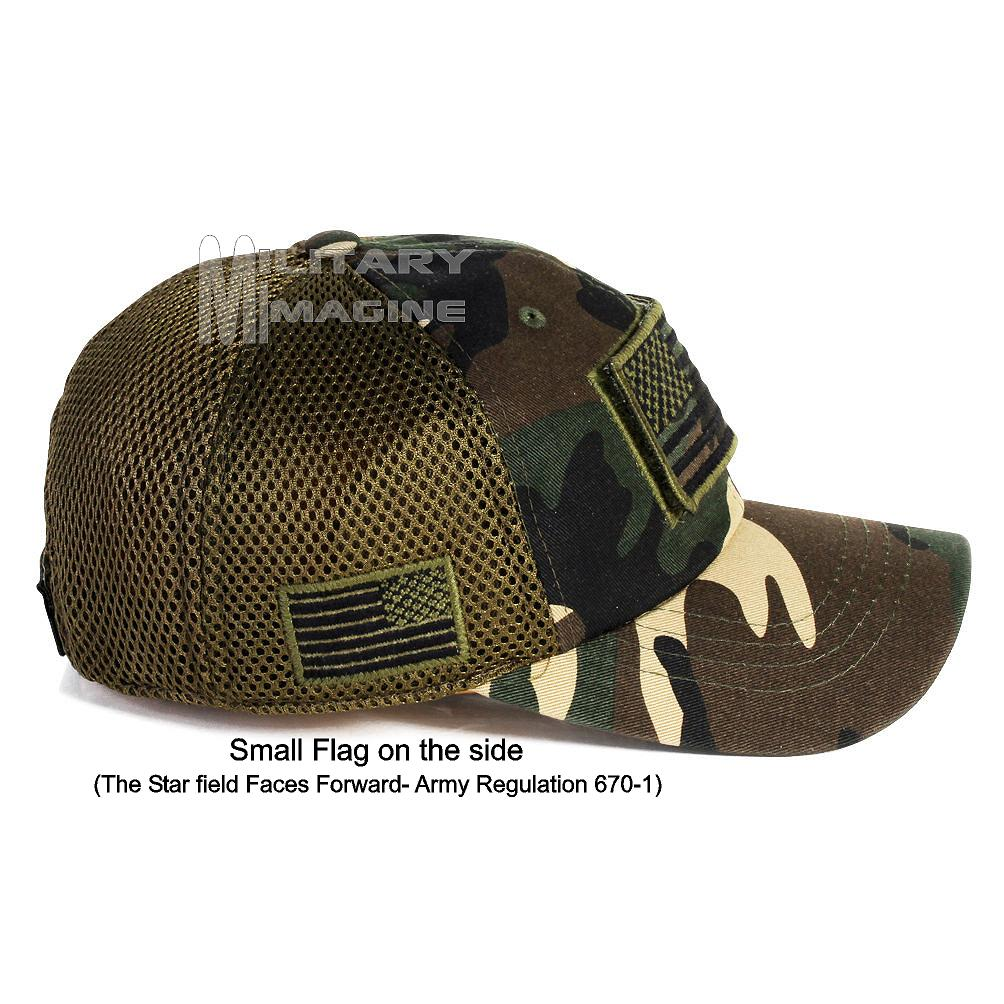 11befa319b6 USA Flag hat Army Camo Patch Micro Mesh Tactical Operator Military cap.  Return to Previous Page. Sale!  1 · 7 · 6