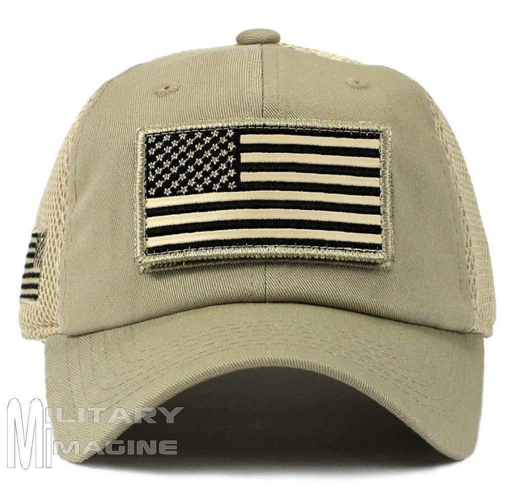 USA Flag hat Khaki Beige Patch Micro Mesh Tactical Operator Military ... 8998b45ce