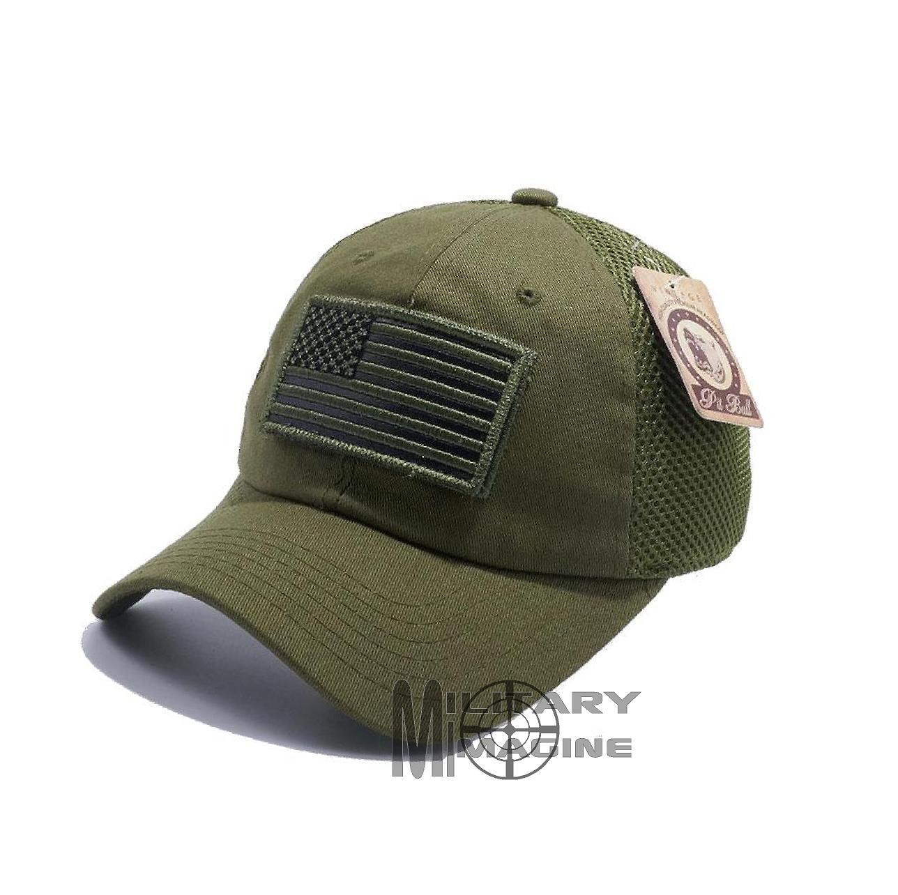 USA Flag hat Olive Green Patch Micro Mesh Tactical Operator Military ... c337185048b