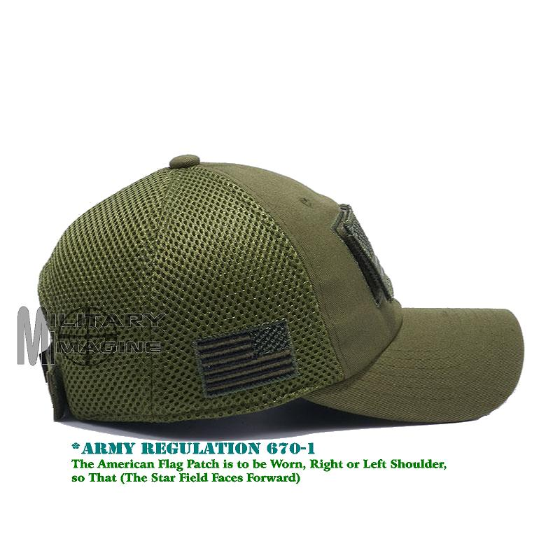 USA Flag hat Olive Green Patch Micro Mesh Tactical Operator Military ... 3ce8a18393d