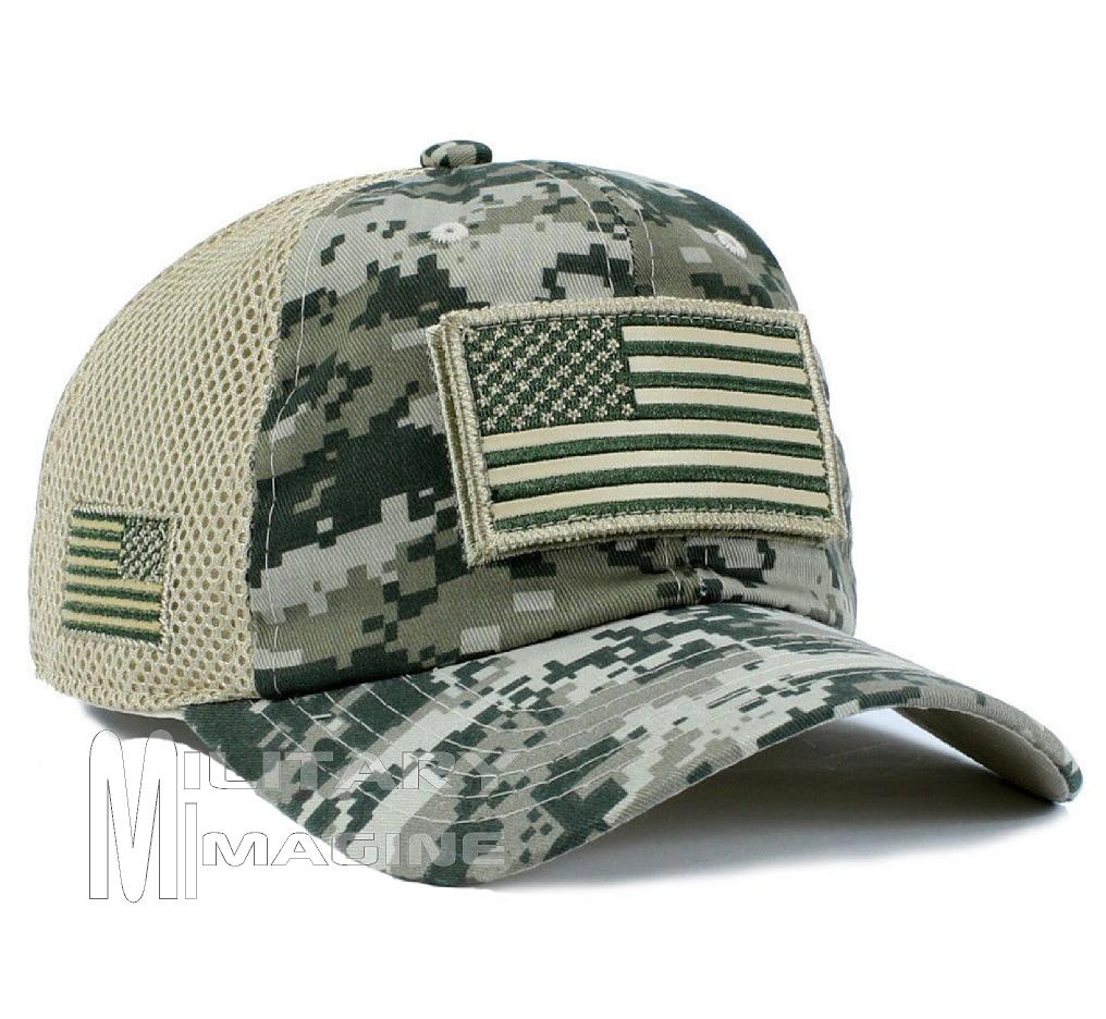USA Flag hat ACU Digital Patch Micro Mesh Tactical Operator Military ... 100a971b178