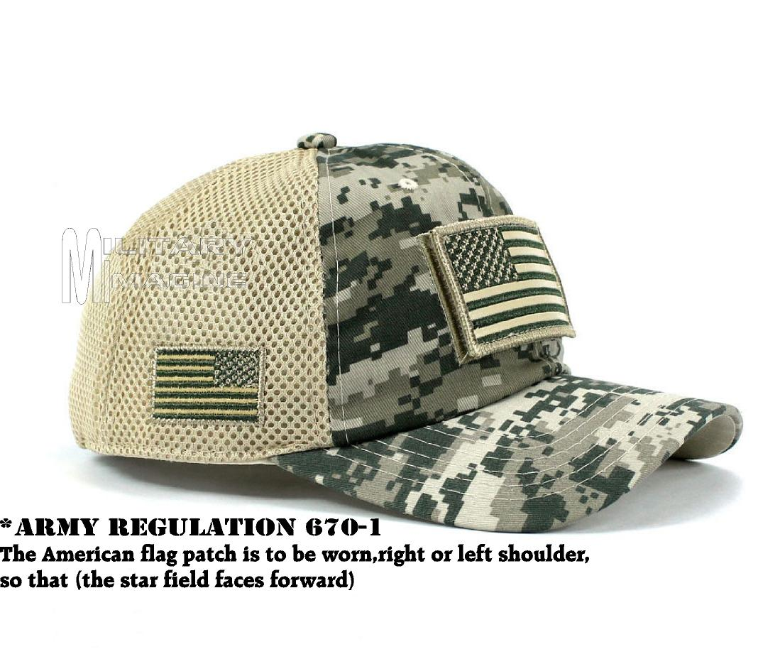 1c2885cde43 USA Flag hat ACU Digital Patch Micro Mesh Tactical Operator Military ...